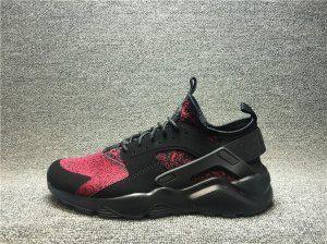 2c93bce61115e Mens Womens Footwear Nike Air Huarache Ultra Flyknit ID Snowflake Pattern  Burgundy Black 753889 994
