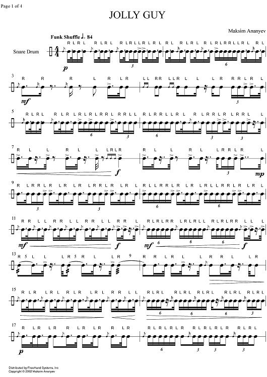 Bildresultat För Sheet Music Snare Drum | Bębny | Snare ...