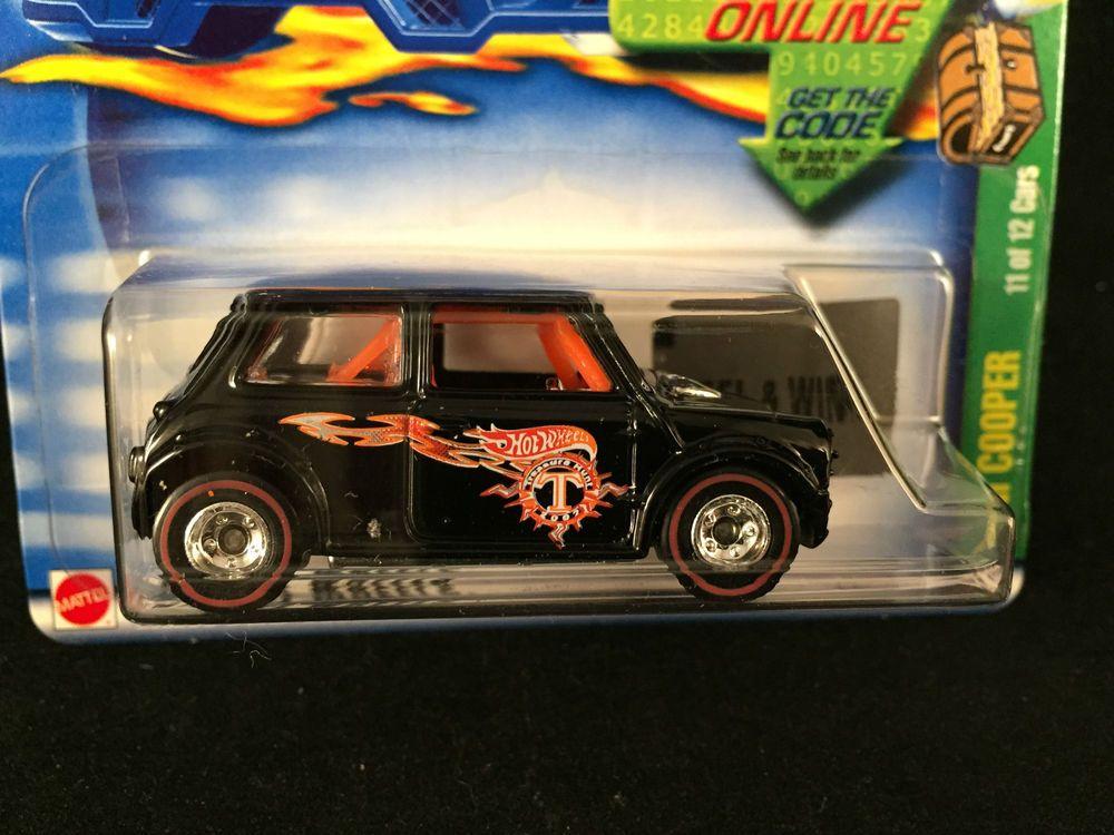 2002 Hot Wheels Treasure Hunt Morris Mini Cooper Black Real Riders W