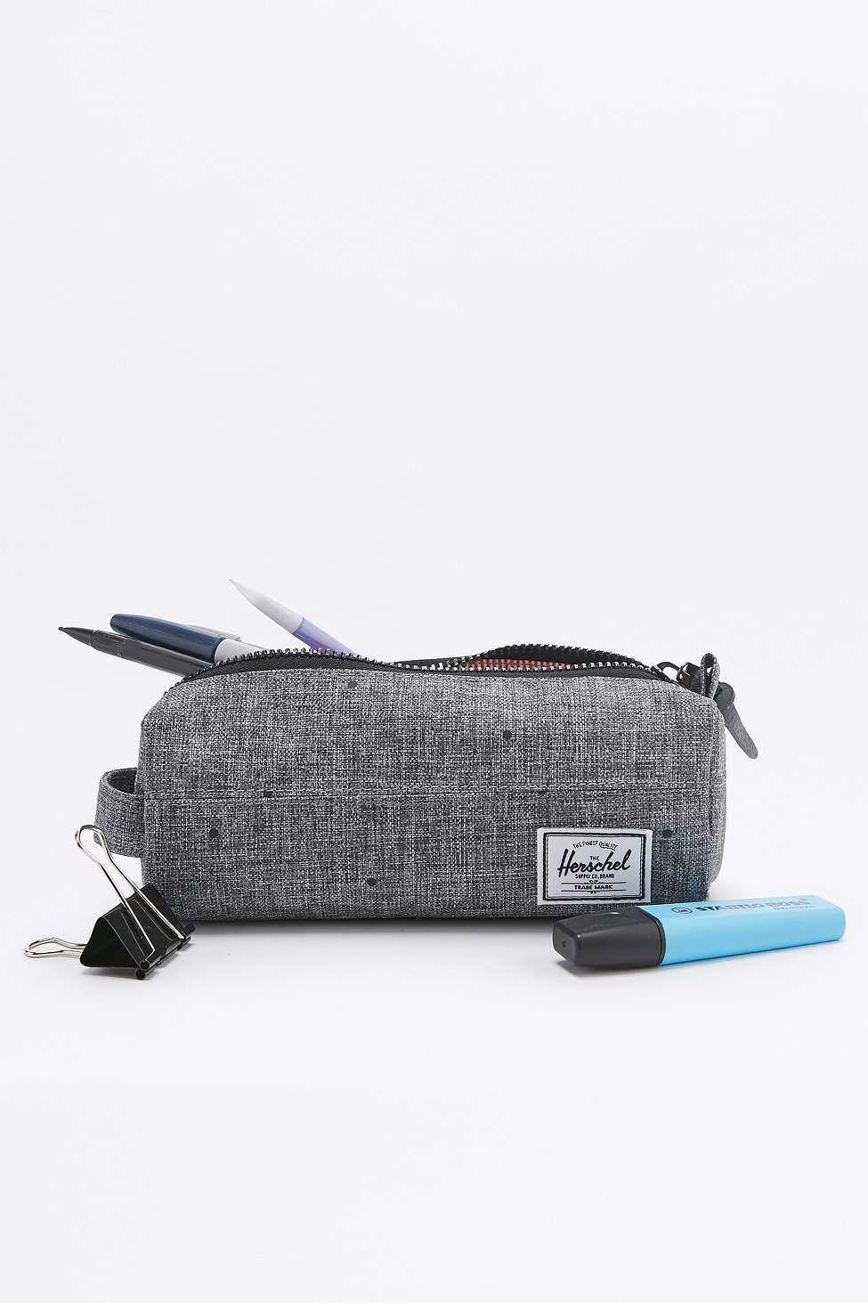 23e0699148bd Herschel Supply co. Settlement Scattered Raven Grey Pencil Case. Click for  more info and shop!
