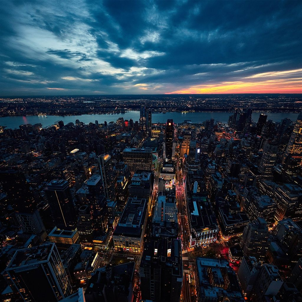 City View Sunset River Sky Cloud Nature Retina Ipad Air