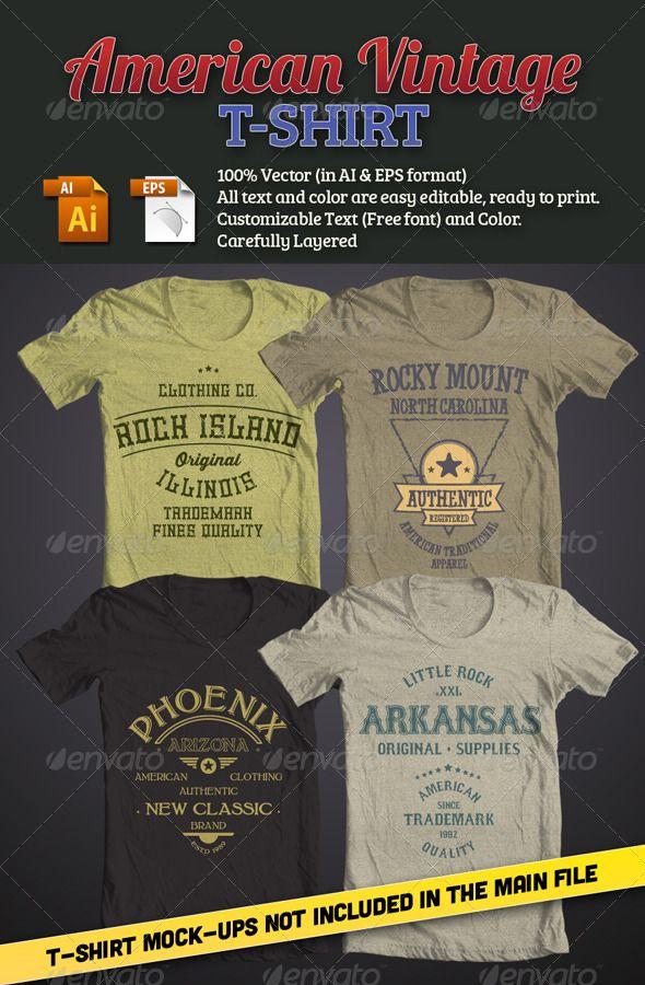 American Vintage T Shirt T Shirts Download Here Https Graphicriver Net Item American Vintage Tshi Vintage Tshirts American Vintage Custom Tshirt Design
