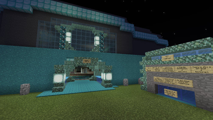 Prismarina Aquarium Minecraft Pe Maps With Images Small Fish