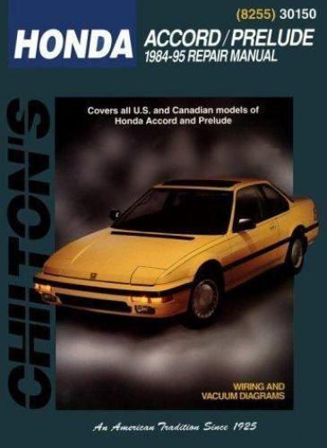 honda accord prelude 1984 1995 repair manual chilton 8255 30150 rh pinterest com