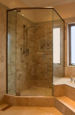 corner showers for small bathrooms 01 - Small Bathroom Remodel Corner Shower