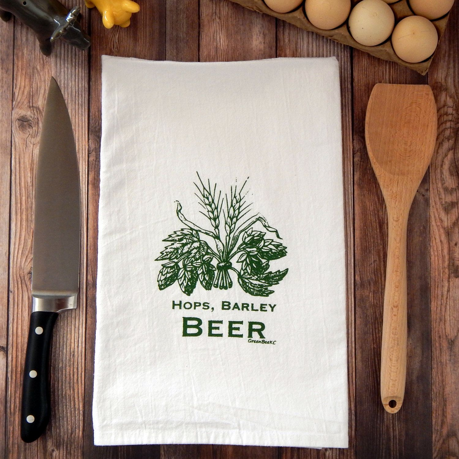 hops barley beer tea towel tea towels towels and beer