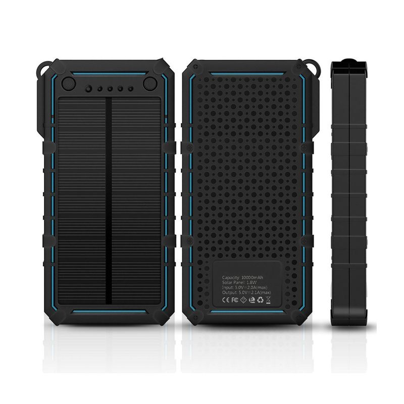 1 8w Solar Panel 2017 Power Bank Portable Shockproof Solar Battery Charger With Dual Usb Output Portable Solar Power Solar Charger Solar Battery Charger