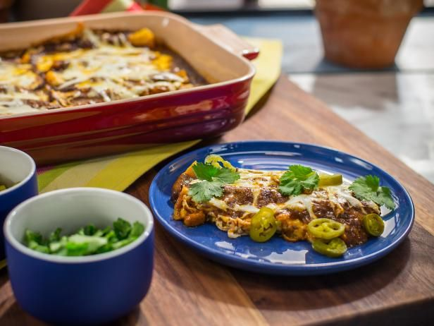 Ultimate cheesy enchiladas recipe cheesy enchiladas mexicans get ultimate cheesy enchiladas with easy mol sauce jeff mauro the kitchen food forumfinder Images