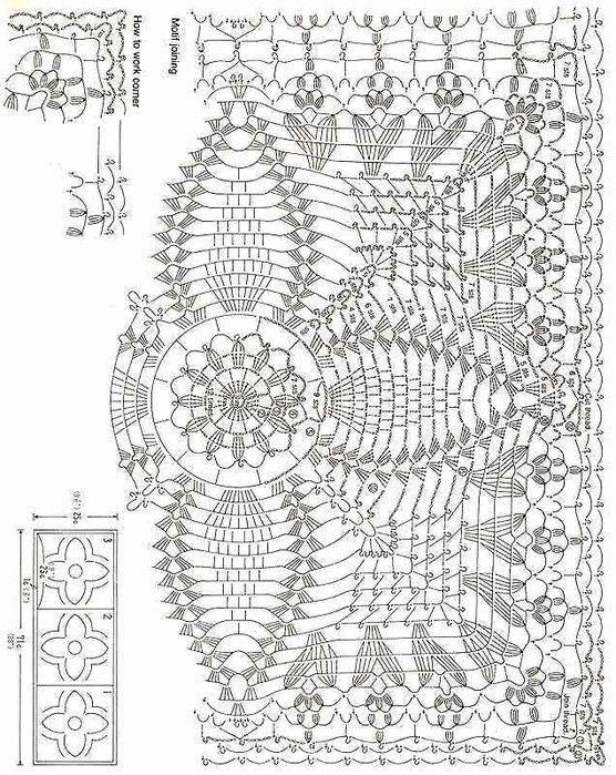 cuadradito en punto piña esquema | Blocks(crochet) | Pinterest ...