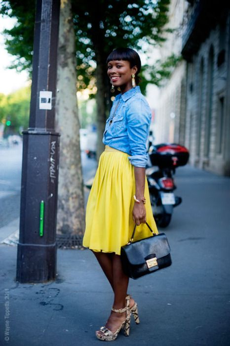 An entry from note to self | Skirts, Chambray and Chambray shirts