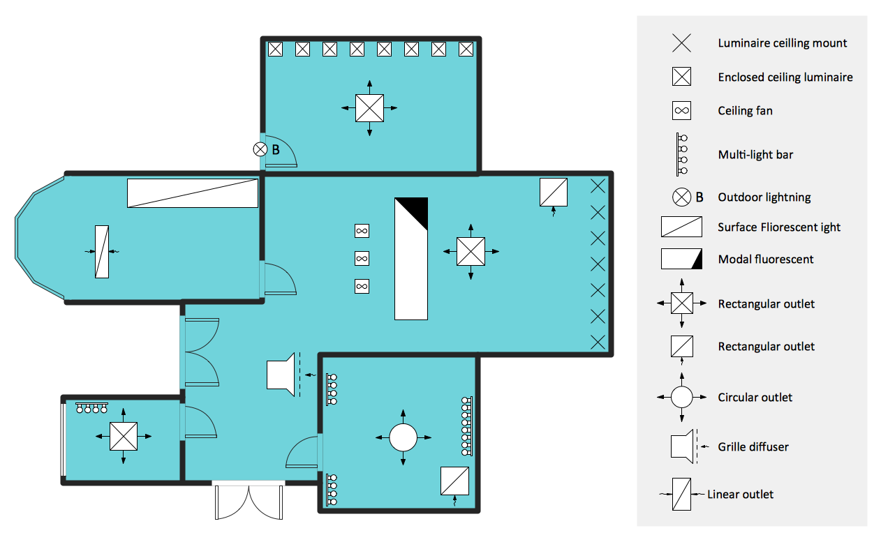 ConceptDraw Samples | Building plans - Reflected ceiling ...