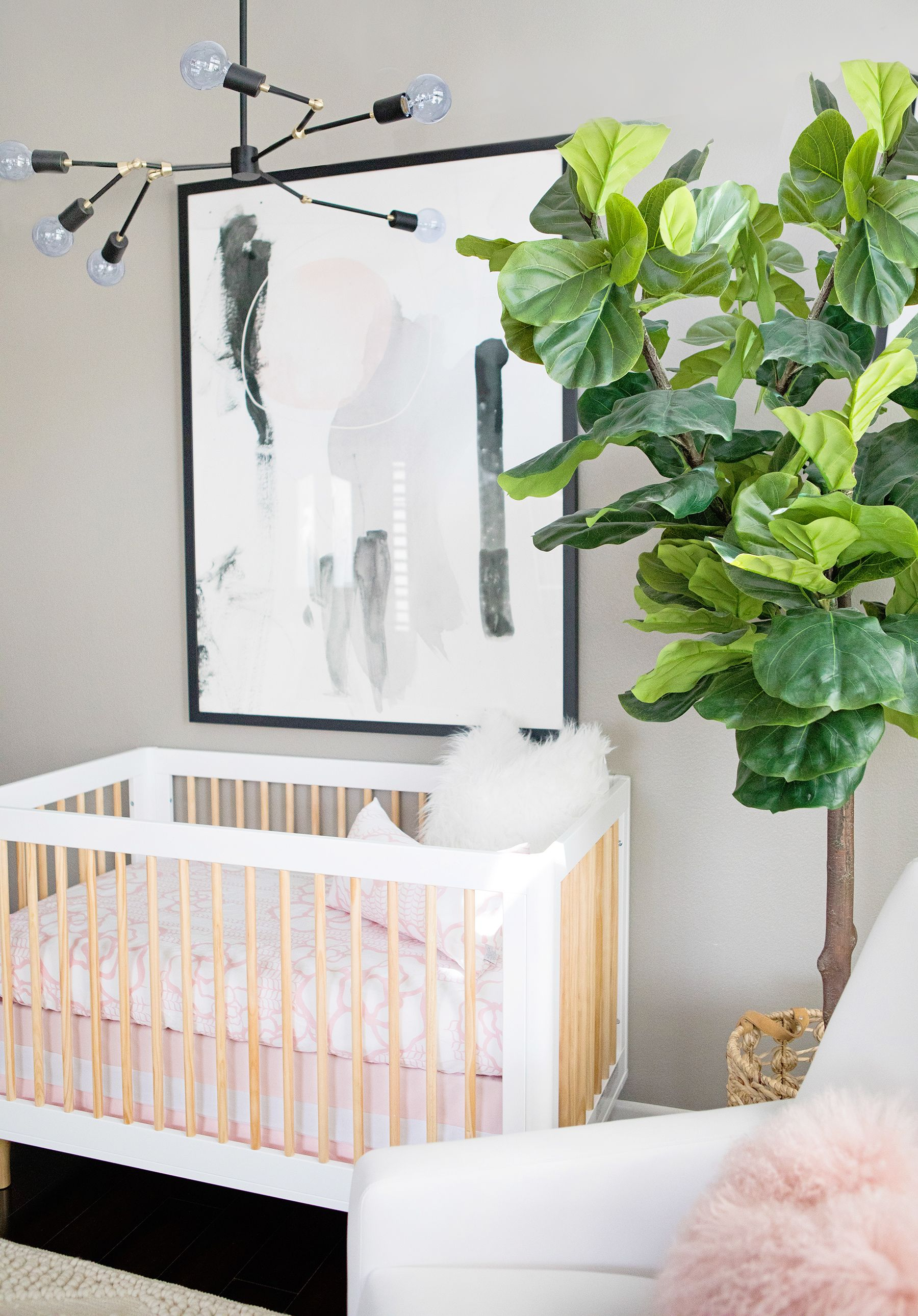 Project Nursery Kailee Wright With Modern Light Fixture