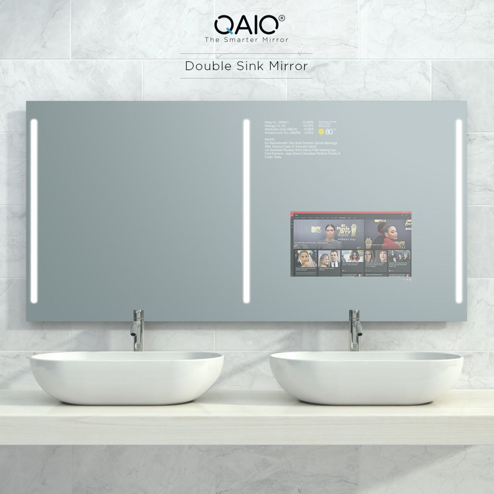 A Vanity Mirror For His And Hers We Got You Covered Click Link In Bio For Custom Sized Mirrors Fit For Your Space Myqaio Double Sink Smart Mirror Mirror [ 1000 x 1000 Pixel ]