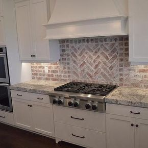 Red Brick Kitchen Backsplash Exposed Brick Kitchen Kitchen