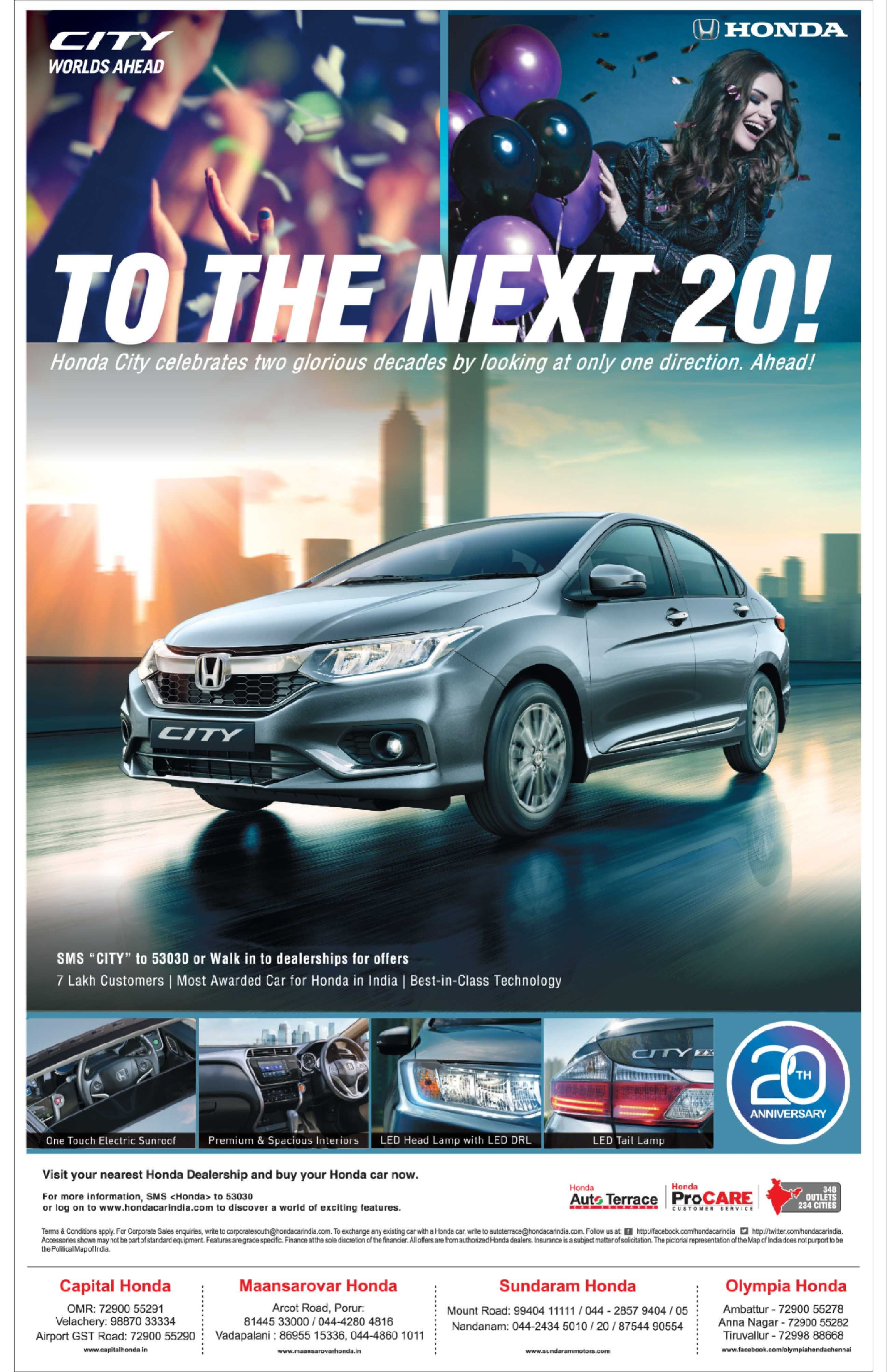 Honda City Worlds Ahead To The Next 20 Ad