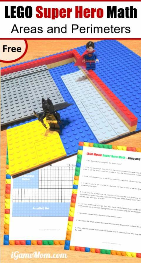 Free LEGO Movie Super Hero Math – hands on Activities for Area and ...