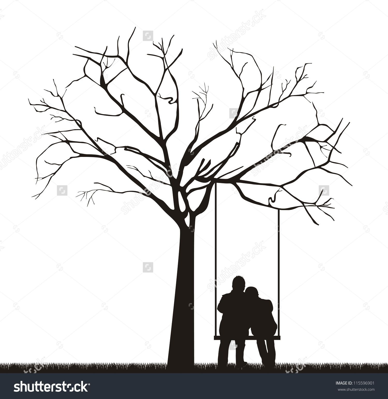 Couple under a tree drawing swing google search in 2019