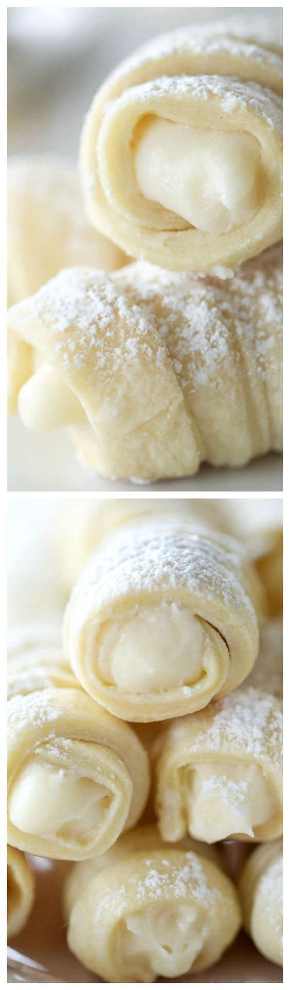 These Cream Horn Cookies (a.k.a. Lady Locks) are one of my favorite classic cookie recipes! #cookie #creamhorn #baking #creamhorns