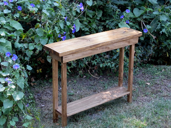 Rustic Console Table Extra Narrow 36 Inch Sofa By Dunneswoods