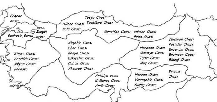 Türkiyenin Ovaları Değerler Eğitimi Pinterest Coğrafya