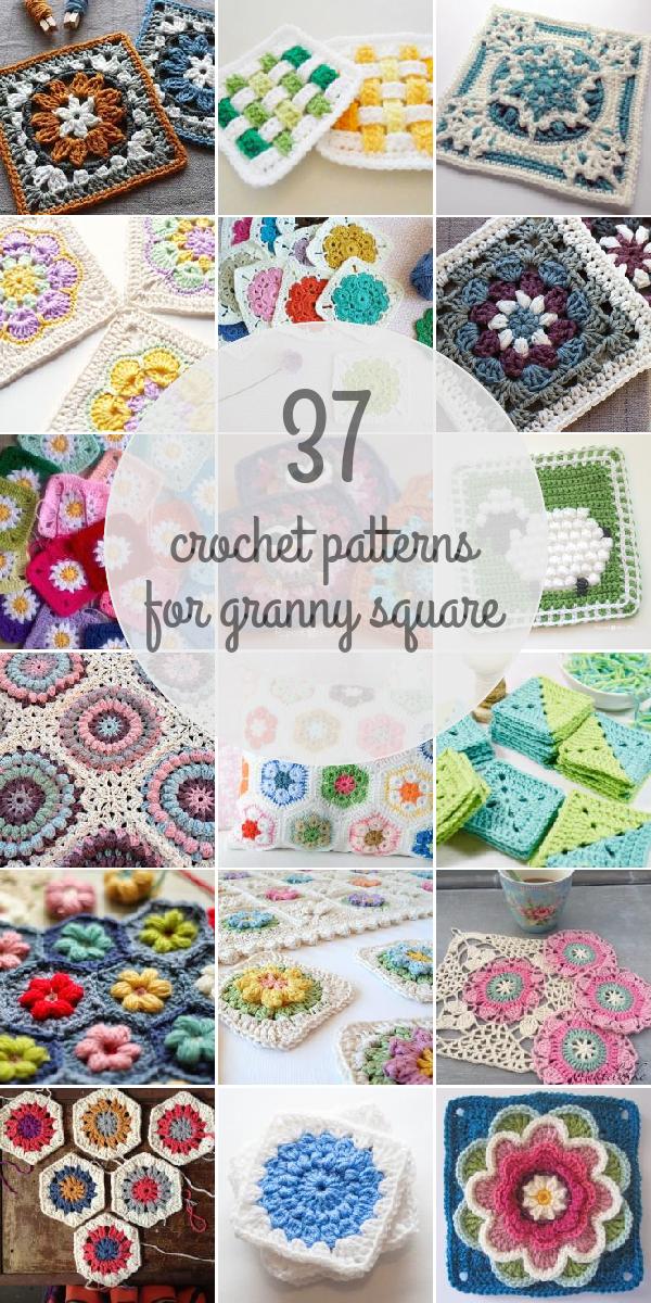Crochet Patterns For Granny Square | Z_Crochet Decor 10 | Pinterest ...