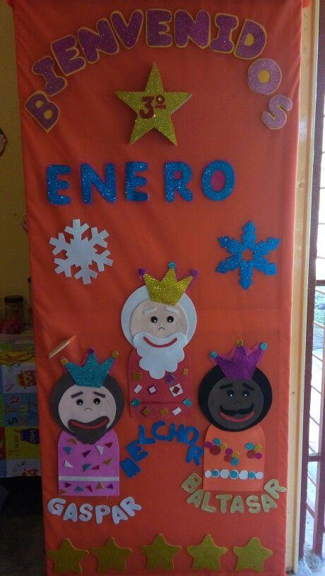 Puerta enero 16 escolar january classroom y ideas for Puertas decoradas de navidad para preescolar