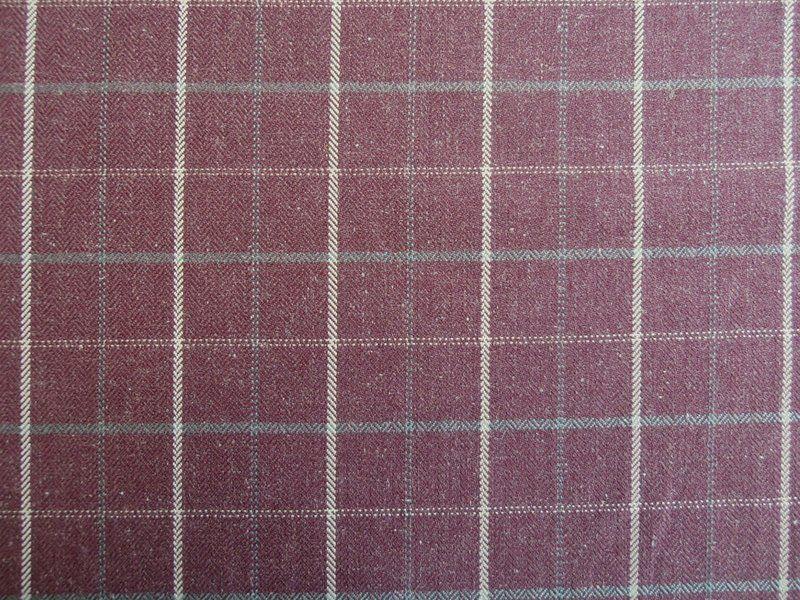 Voyage Isla Plum Check | Textile Express | Buy Fabric Online ...