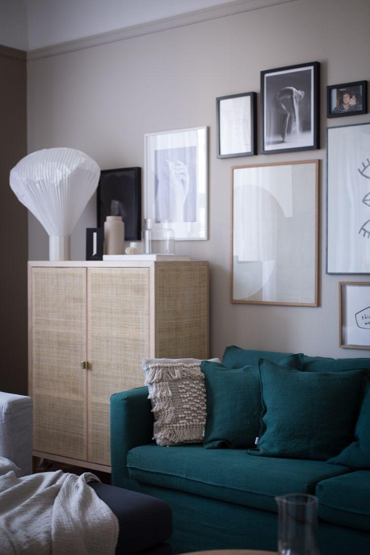 My Scandinavian Home Gen S Cosy Sitting Room Make Over With Bemz Ikea Sofa Home Decor House Interior