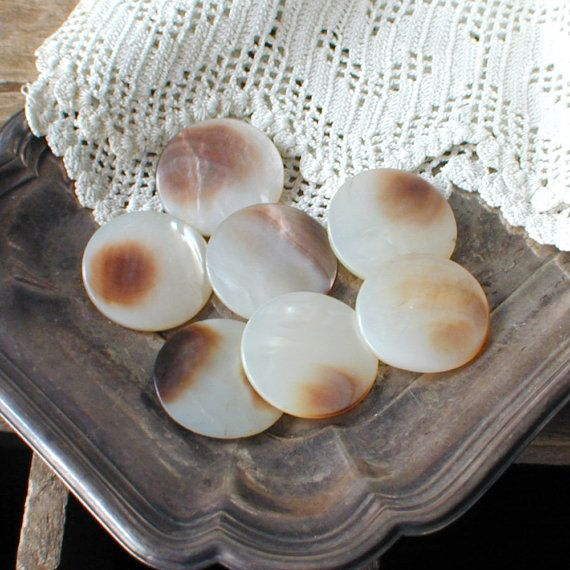 Large Shell Buttons Mother of Pearls by thelostrooms on Etsy