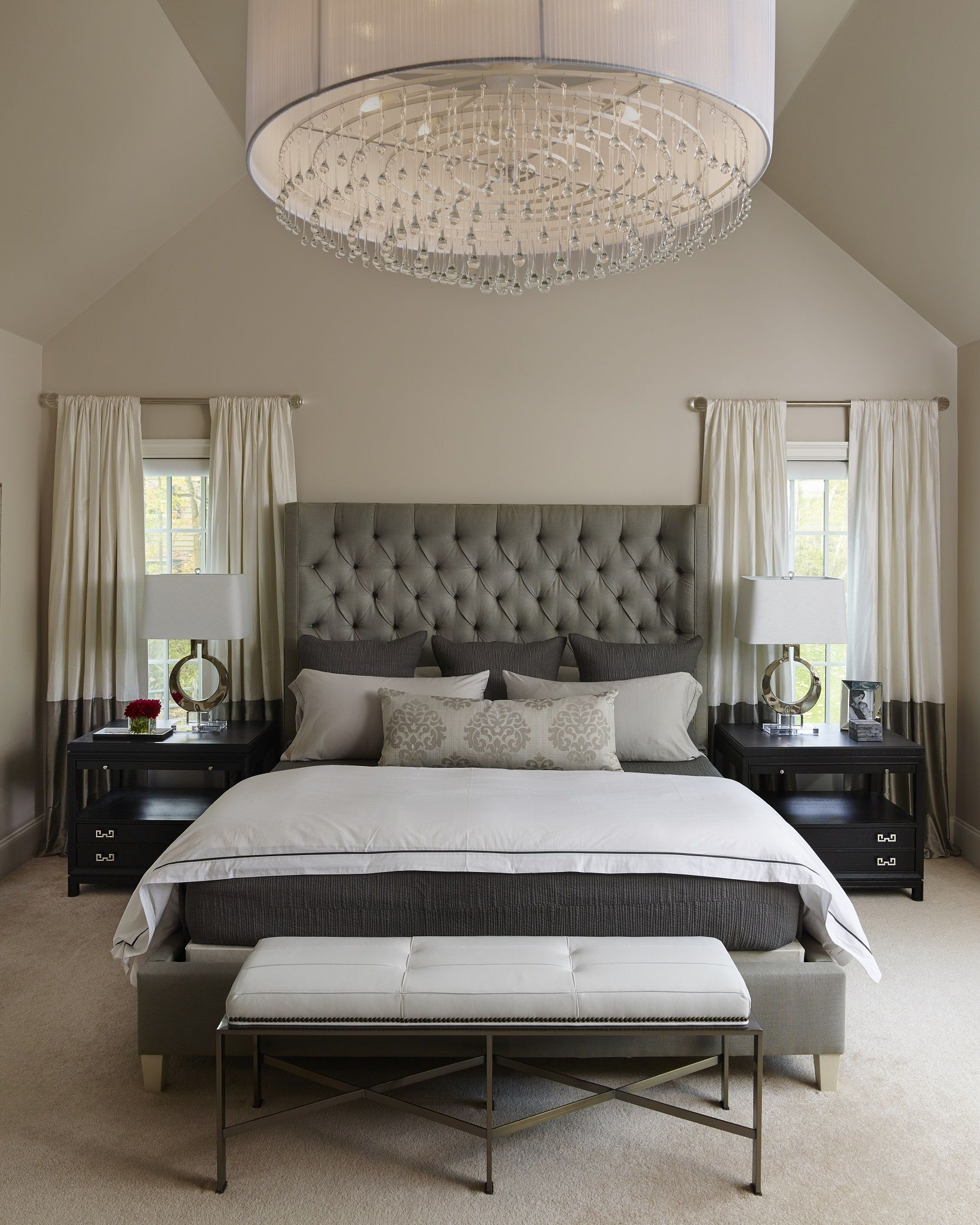 Napa Chic Master Bedroom Michelle Wenitsky Interior