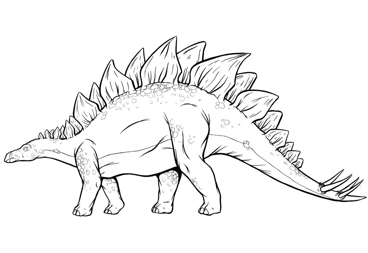 Stegosaurus Coloring Pages (With images) | Dinosaur ...
