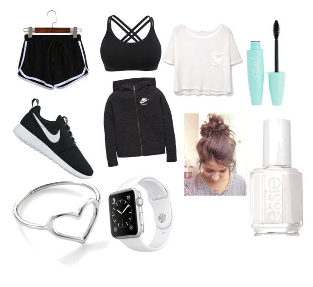 """""""Untitled #6"""" by amazinggurl001 on Polyvore featuring NIKE, Essie, Apple, Jordan Askill and MANGO"""