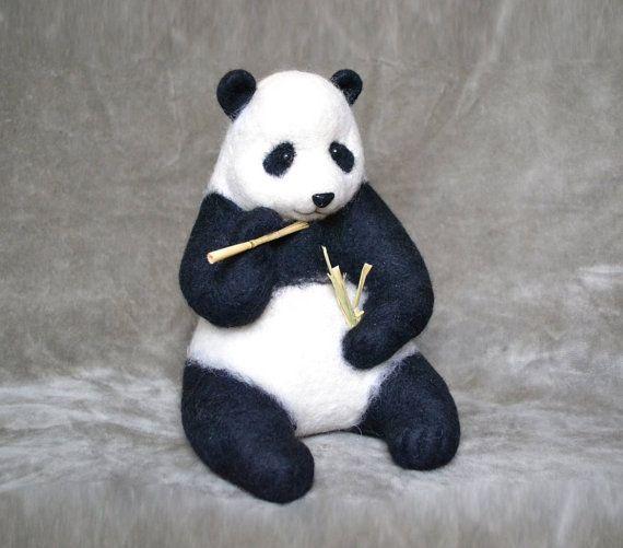 Panda Ich Werde Diesen Artikel Fur Ihre Bestellung Machen Filz Spielzeuge Filztiere Nadelfilztiere
