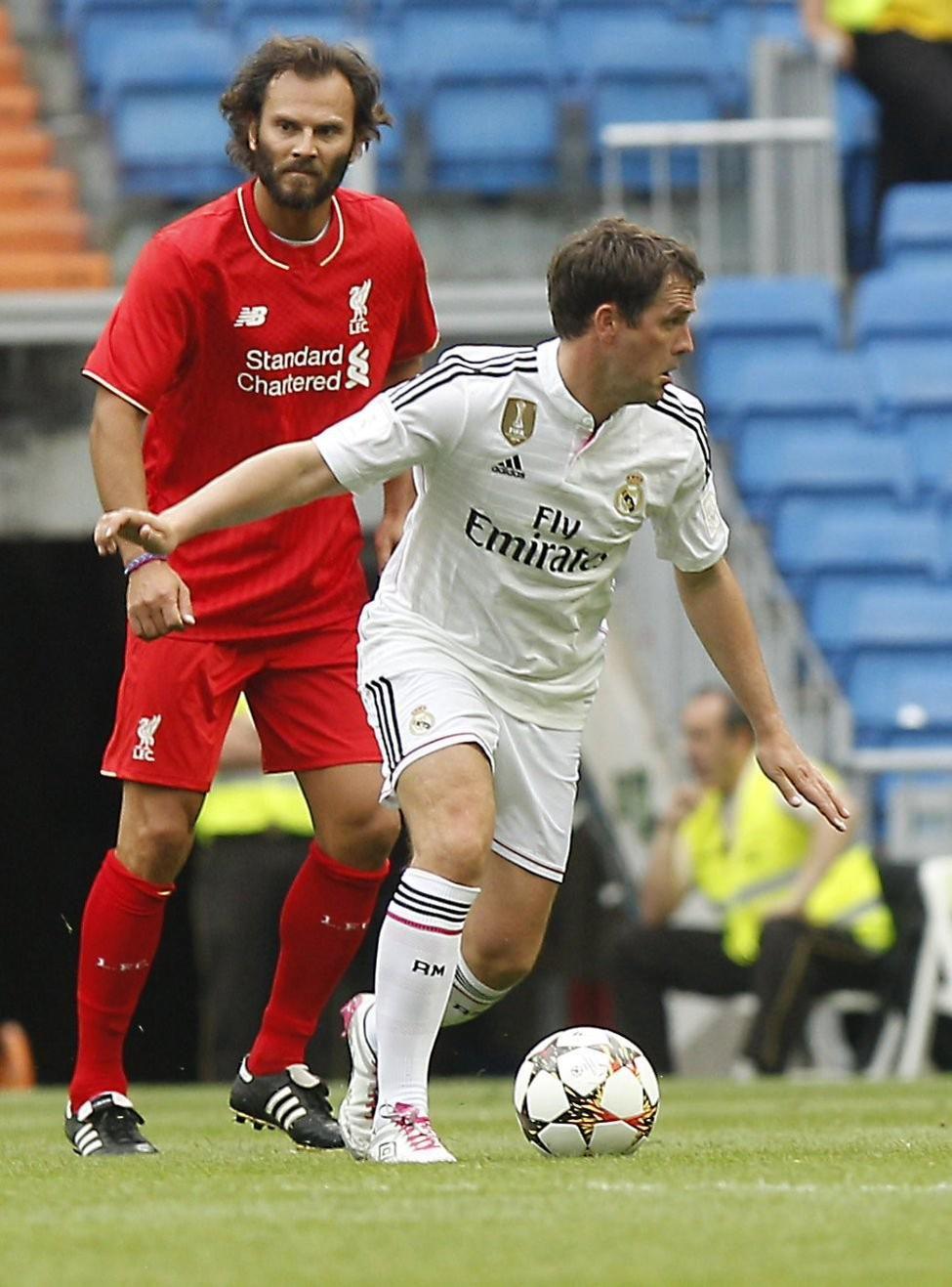 Michael Owen Real Madrid vs Liverpool legends 2015 | Real ...