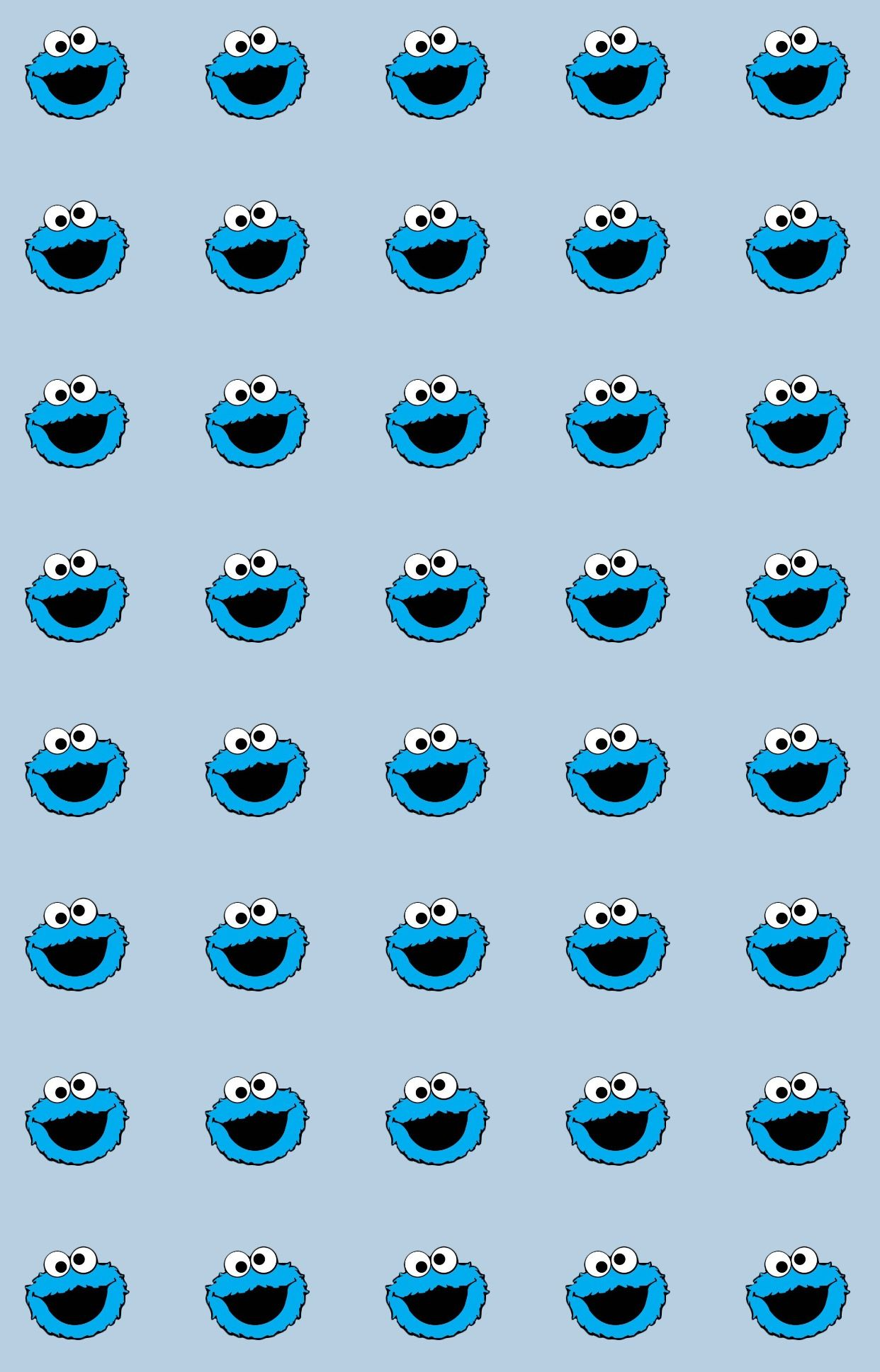Cookies Monster Blue Wallpaper Iphone Cookie Monster Wallpaper Elmo Wallpaper