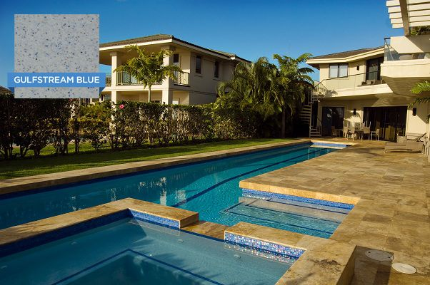 Hydrazzo Gulfstream Blue Looks Great In This Lap Pool Huber Pool