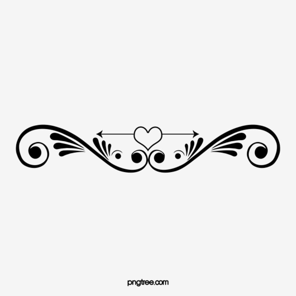 Classic Black And White Floral Pattern Dividing Line Black And White Classical Pattern Png Transparent Clipart Image And Psd File For Free Download White Pattern Background Black And White Posters Floral