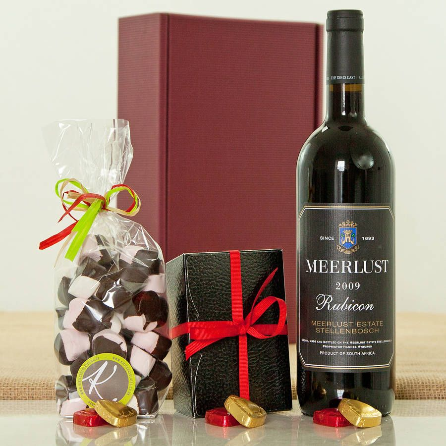 Meerlust Rubicon South African Red Wine Hamper Wine Hampers Artisan Chocolate Whole Milk Powder