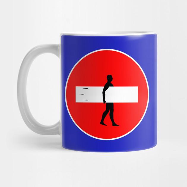 No Entry Sign Surfer Surfer Mug Teepublic The Office Mugs Cute Coffee Mugs Disney Mugs