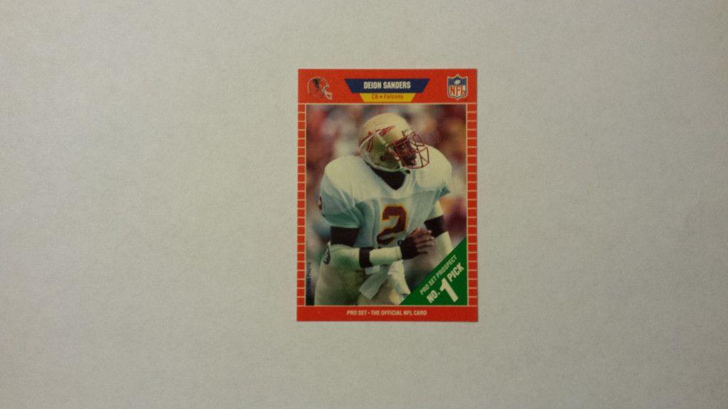 1989 pro set deion sanders single football rookie card
