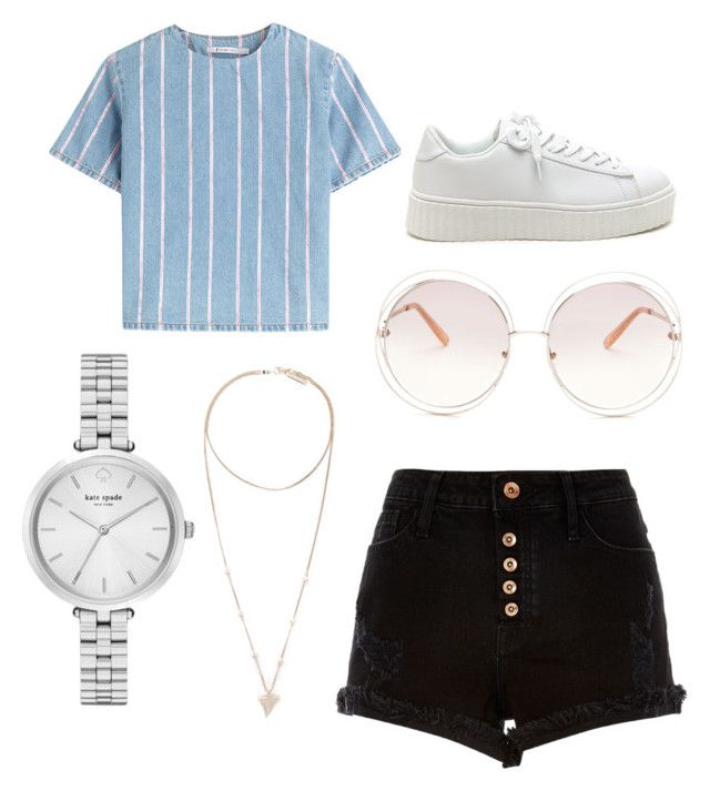 """Summer time"" by abbyharris26 on Polyvore featuring T By Alexander Wang, River Island, Kate Spade, Chloé and Givenchy"