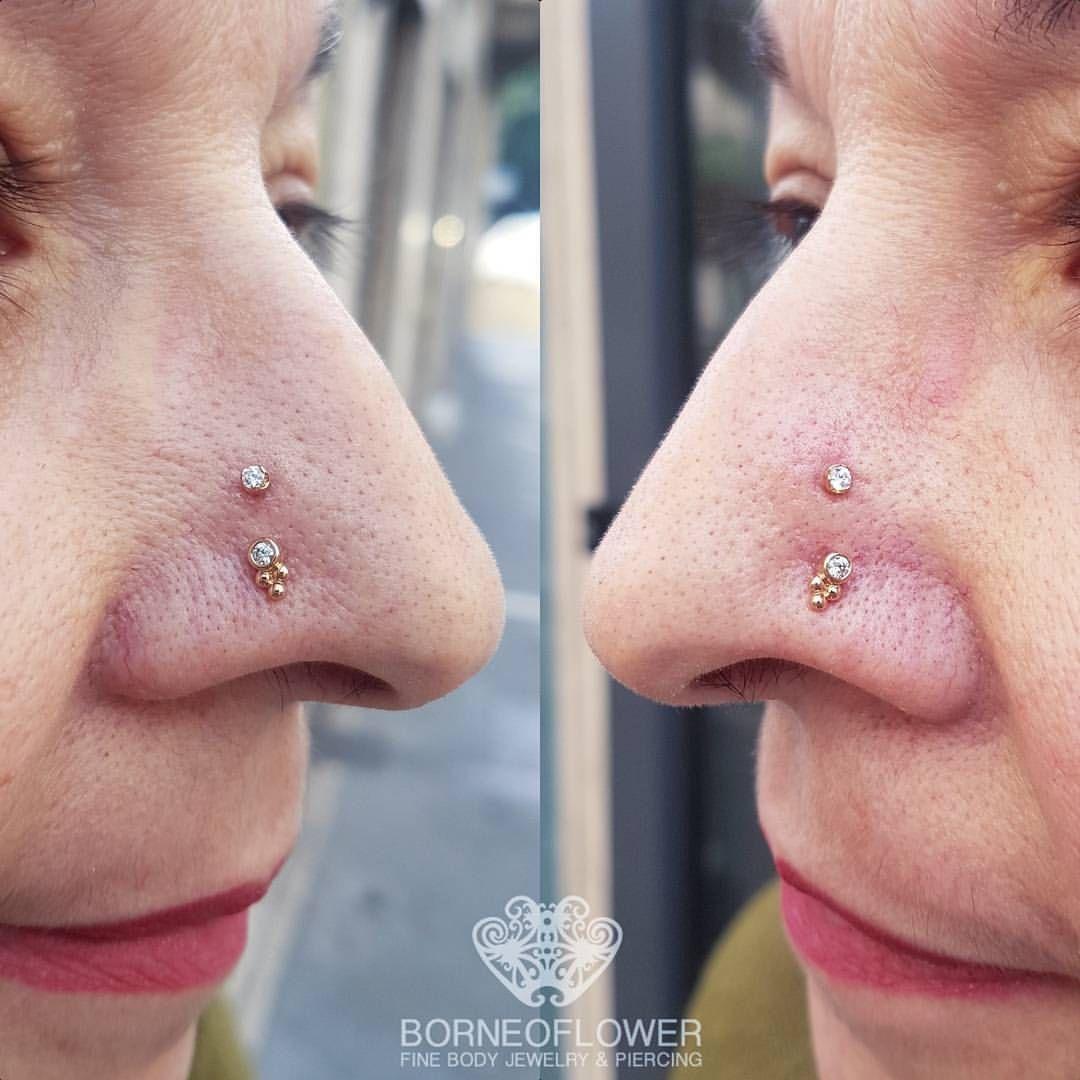 Nose piercing cover up  Golden Monday u nostrilpiercing e highnostrils con gioielli in
