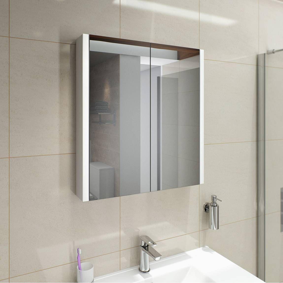 odessa white 2 door mirror cabinet 70 65cm x 60cm x 10cm