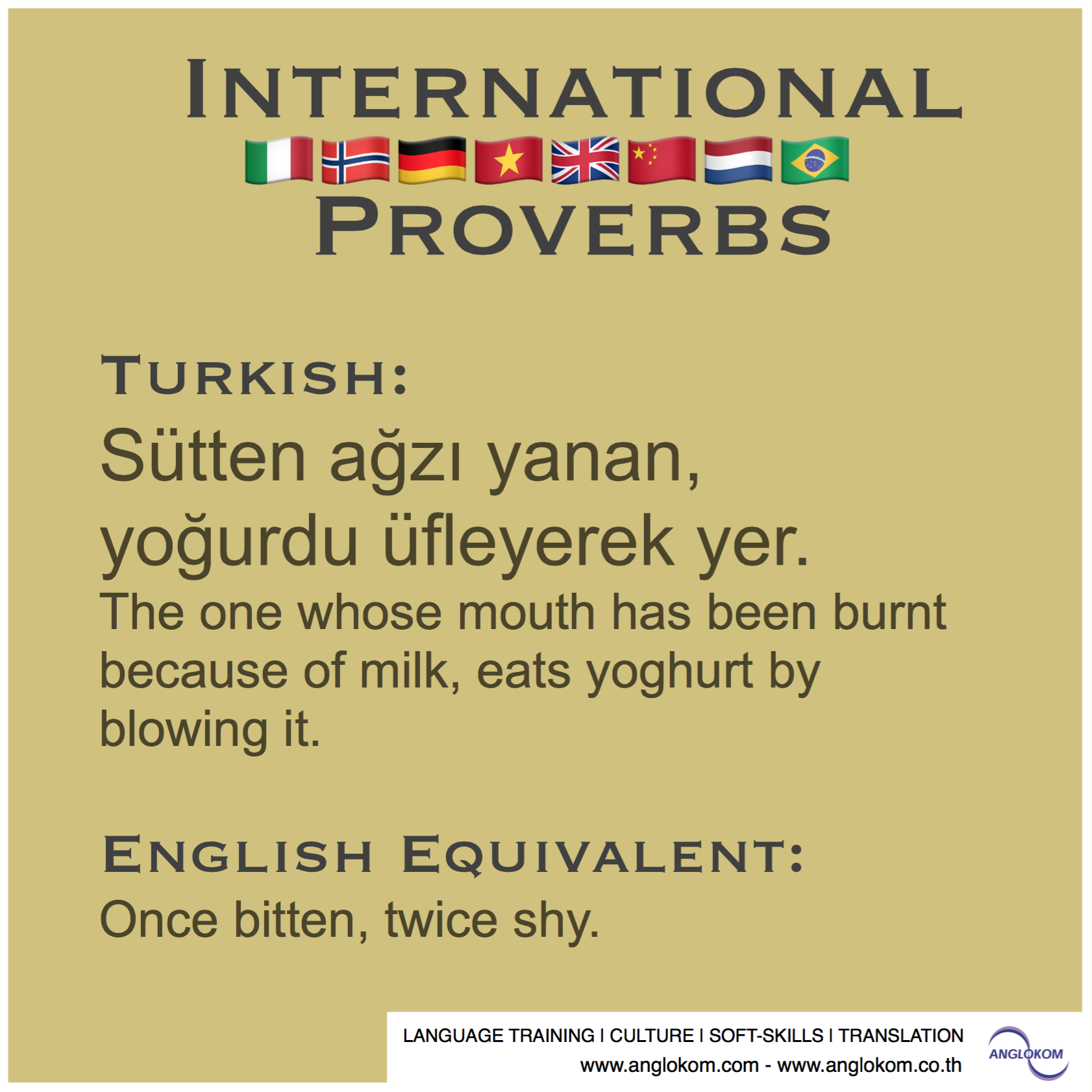 A Selection Of International Proverbs This Time We Are Off To