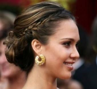 formal hair styles down simple classic updo with flowers wedding ideas 8495 | f8f43165b78e684fe72915c8495e37cc