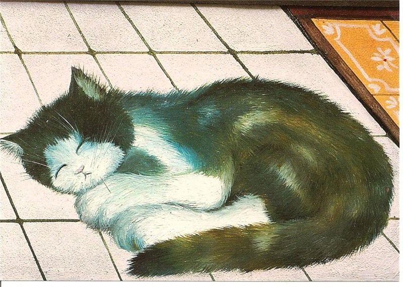 Художник Renate Koblinger: наивное о кошках и не только... (всего 88 картин) ) - Чтоб мы так жили!