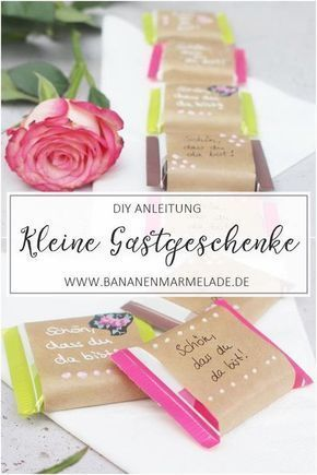 {DIY} Kleine Gastgeschenke für die Hochzeitsgäste – DIY Geschenke