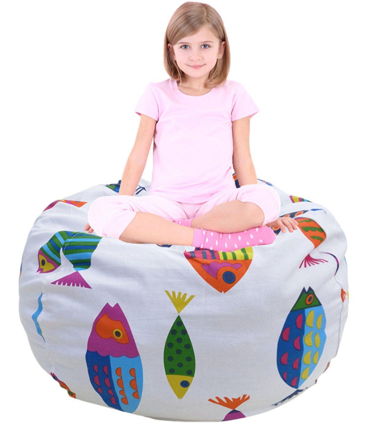 Child bean bag sofa chair storage bags beanbag chair