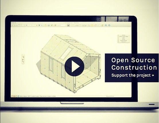 A Wikihouse é um projeto colaborativo que disponibiliza modelos de casas em 3d para impressão. Qualquer pessoa pode imprimir os modelos no material que lhe for mais conveniente e montar as peças para construir uma casa.