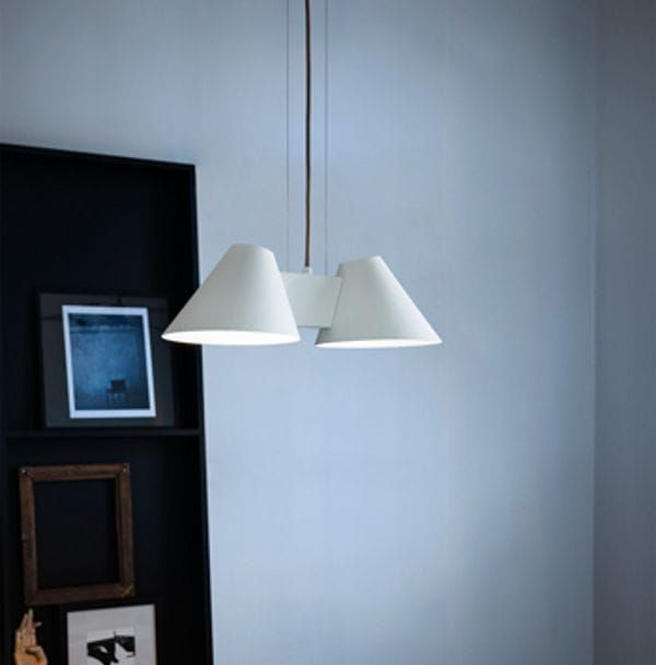 Pendant lamp / contemporary / metal / white BILLY HL Kalmar Werkstaetten